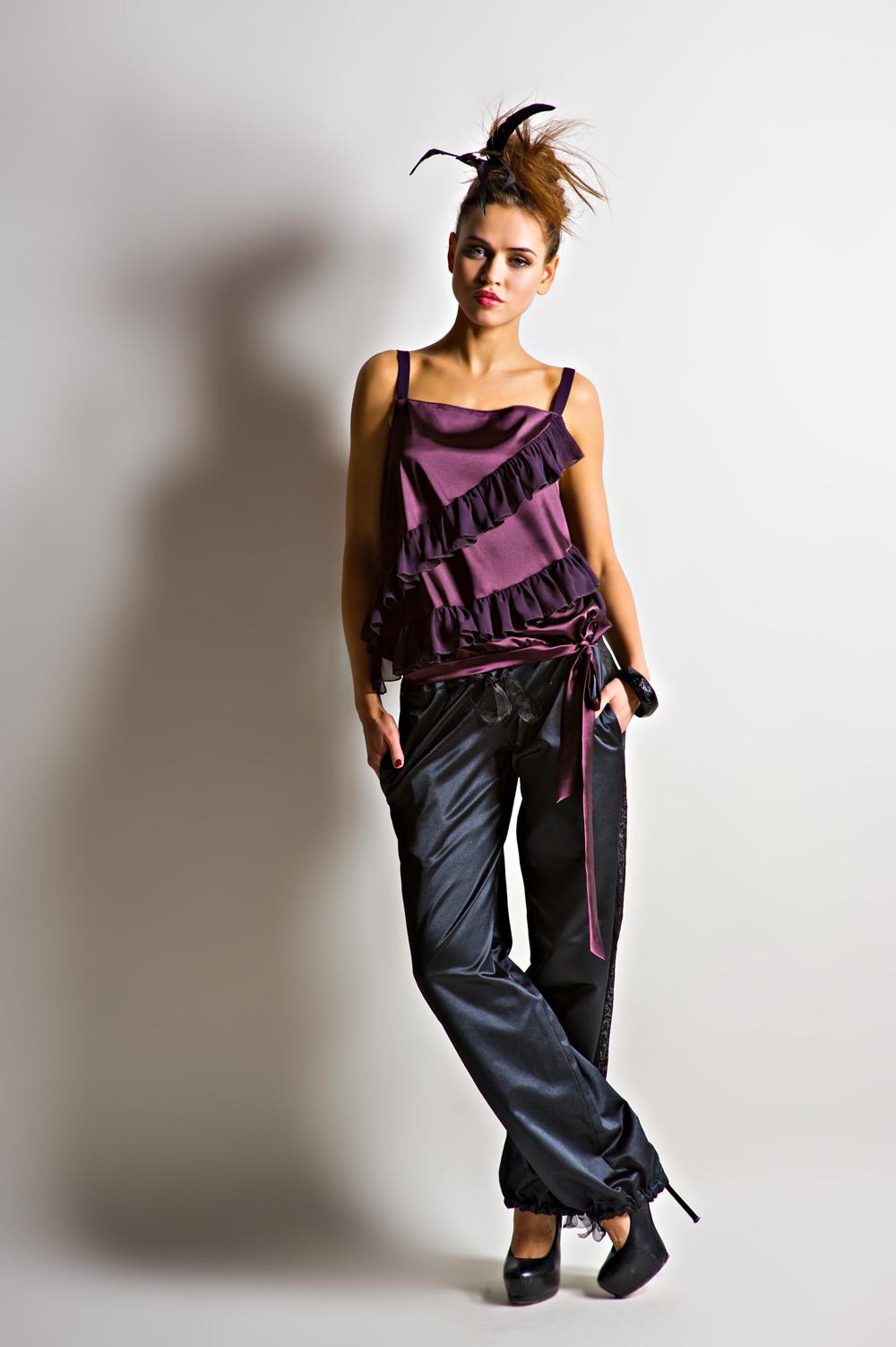 Длинная юбка с рюшами 12